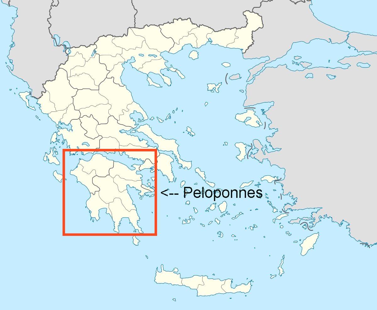 Peloponnes Karte.Online Hafenhandbuch Griechenland Die Halbinsel Peloponnes Und Die