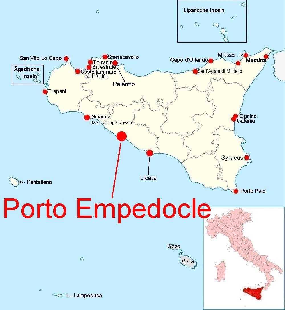 Online-Hafenhandbuch Italien: Hafen Porto Empedocle / Sizilien