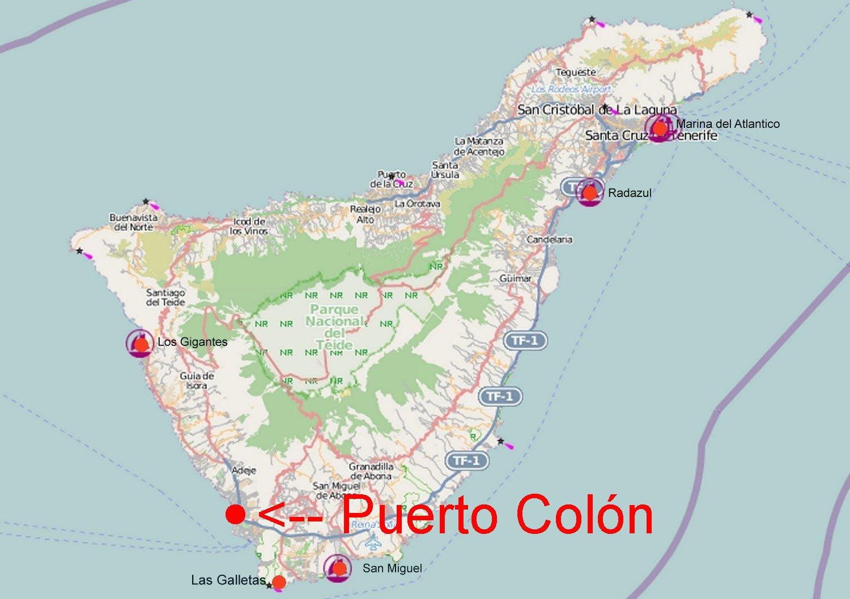 Teneriffa Karte Spanien.Online Hafenhandbuch Spanien Marina Puerto Colón Auf Teneriffa